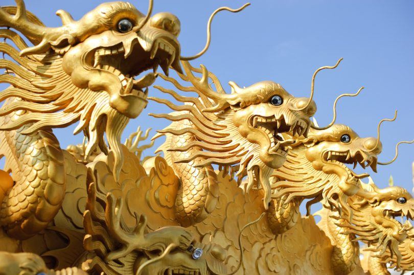 china gold, international gold, gold dragons